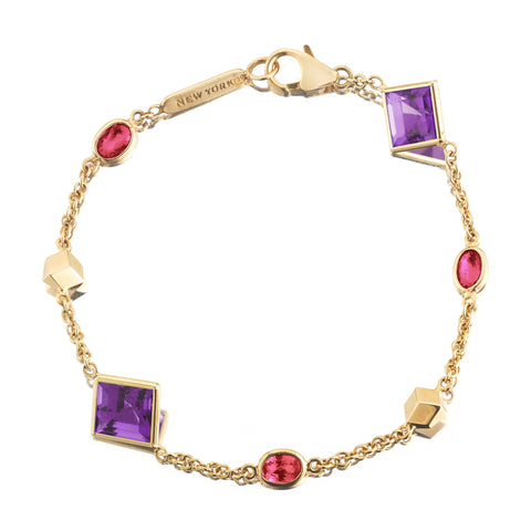 Amethyst and Ruby 'Florentine' Station Bracelet - Paolo Costagli - 1