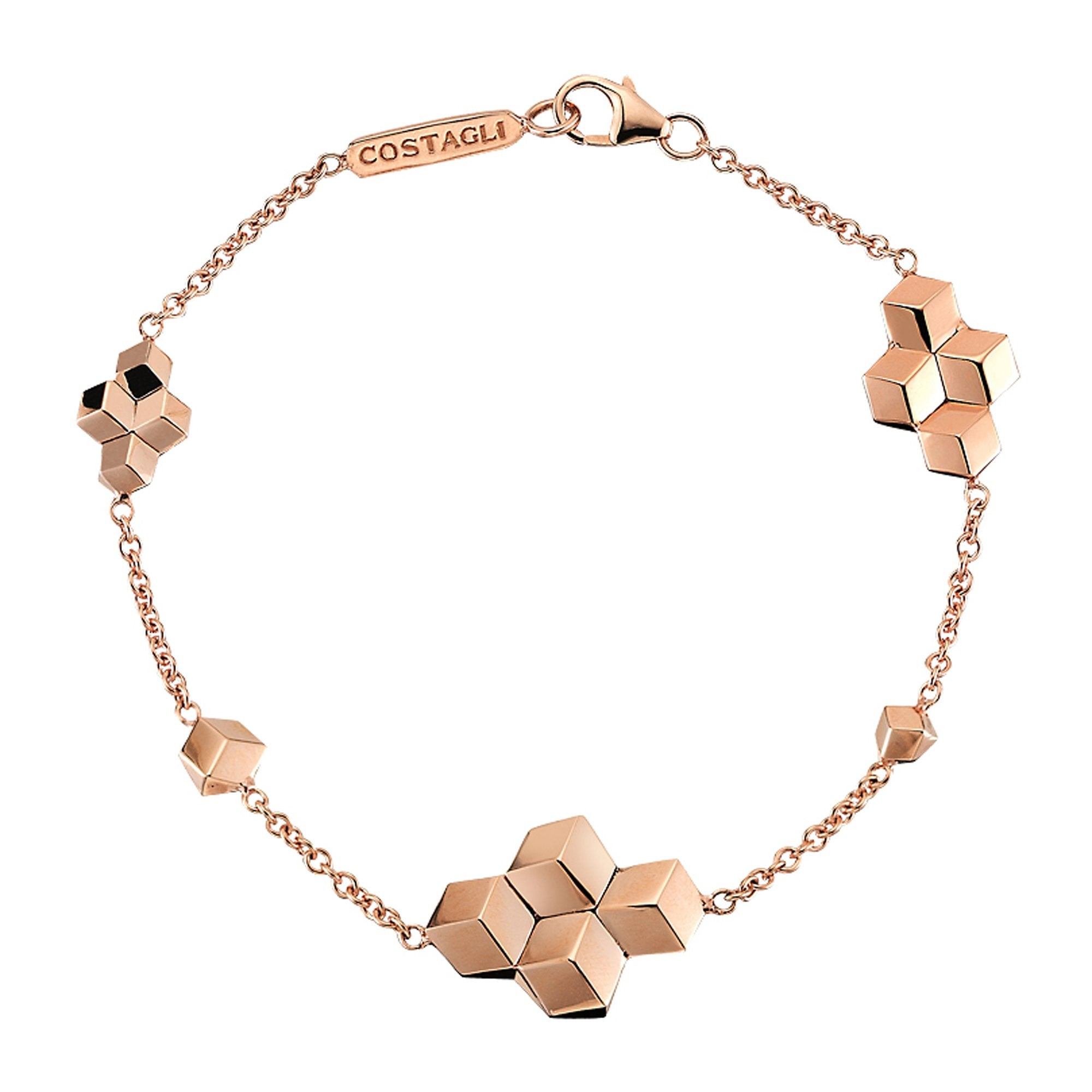 18kt Rose Gold Brillante® Station Bracelet - Paolo Costagli