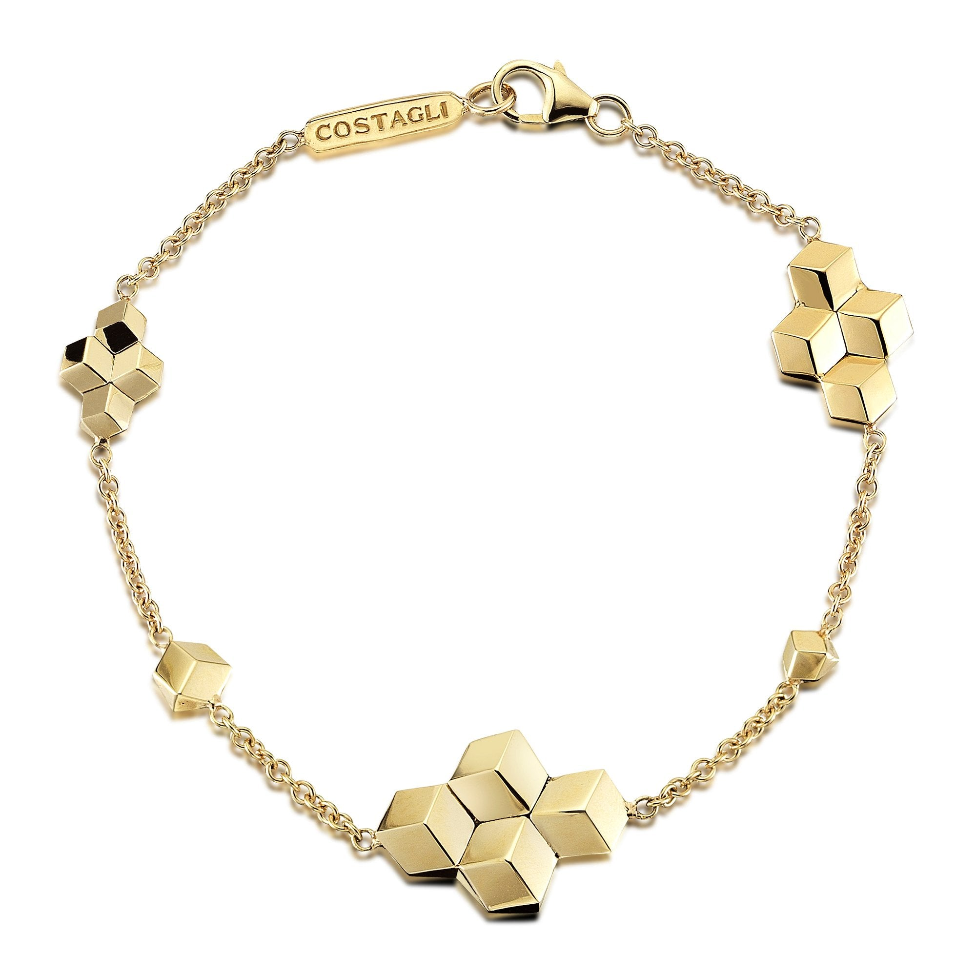 Yellow Gold 'Brillante®' Station Bracelet - Paolo Costagli - 1