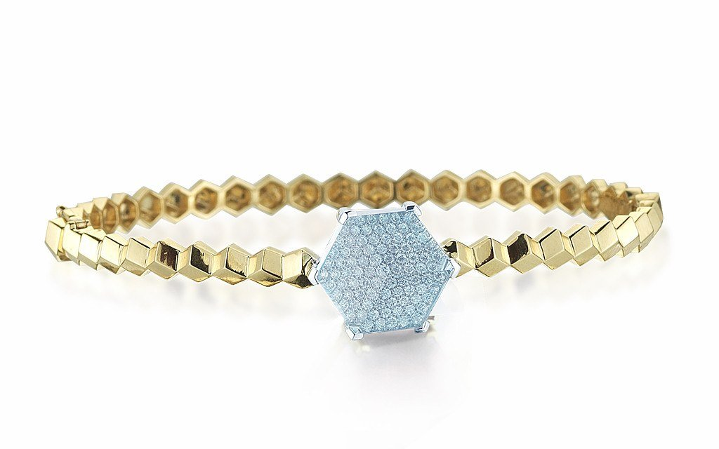 Blue Topaz and Diamond 'Brillante® Valentina' Bangle - Paolo Costagli - 1