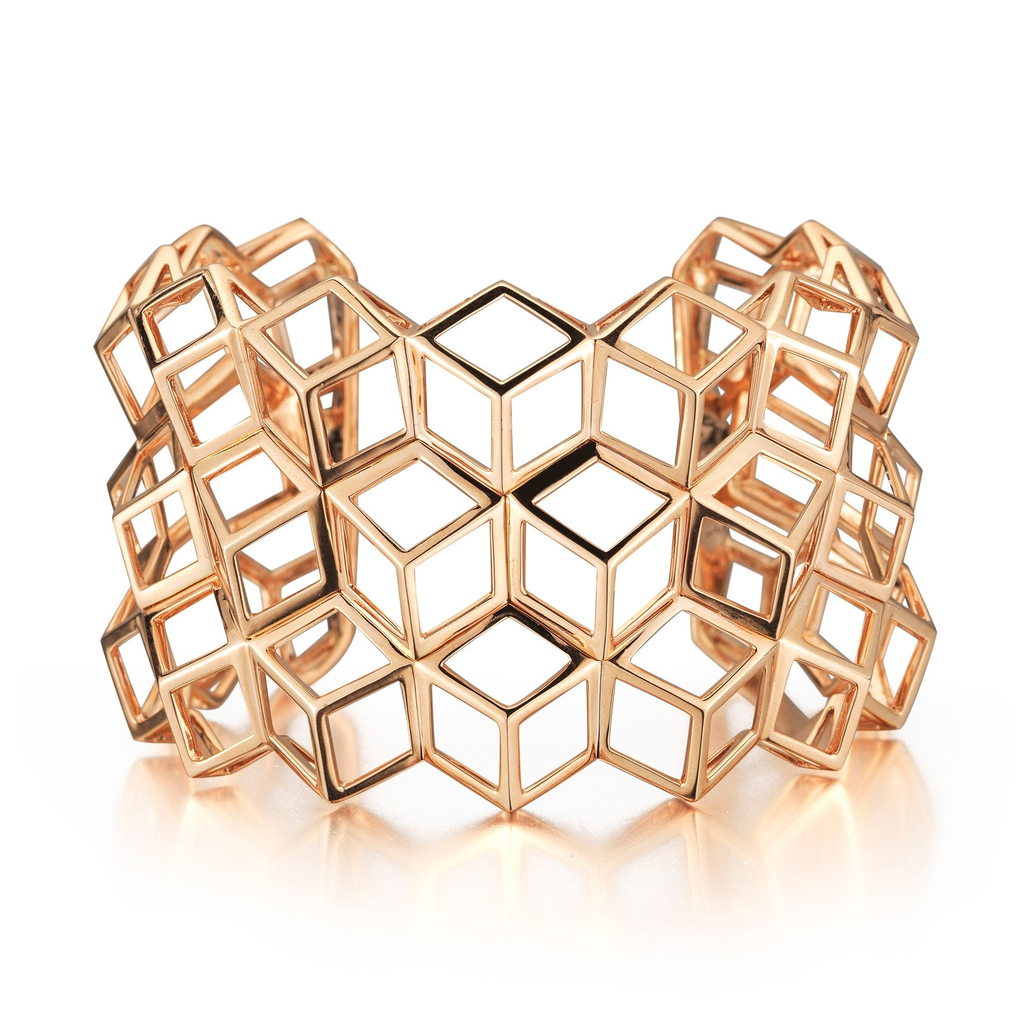 Rose Gold 'Brillante®' Traforato Cuff - Paolo Costagli - 1
