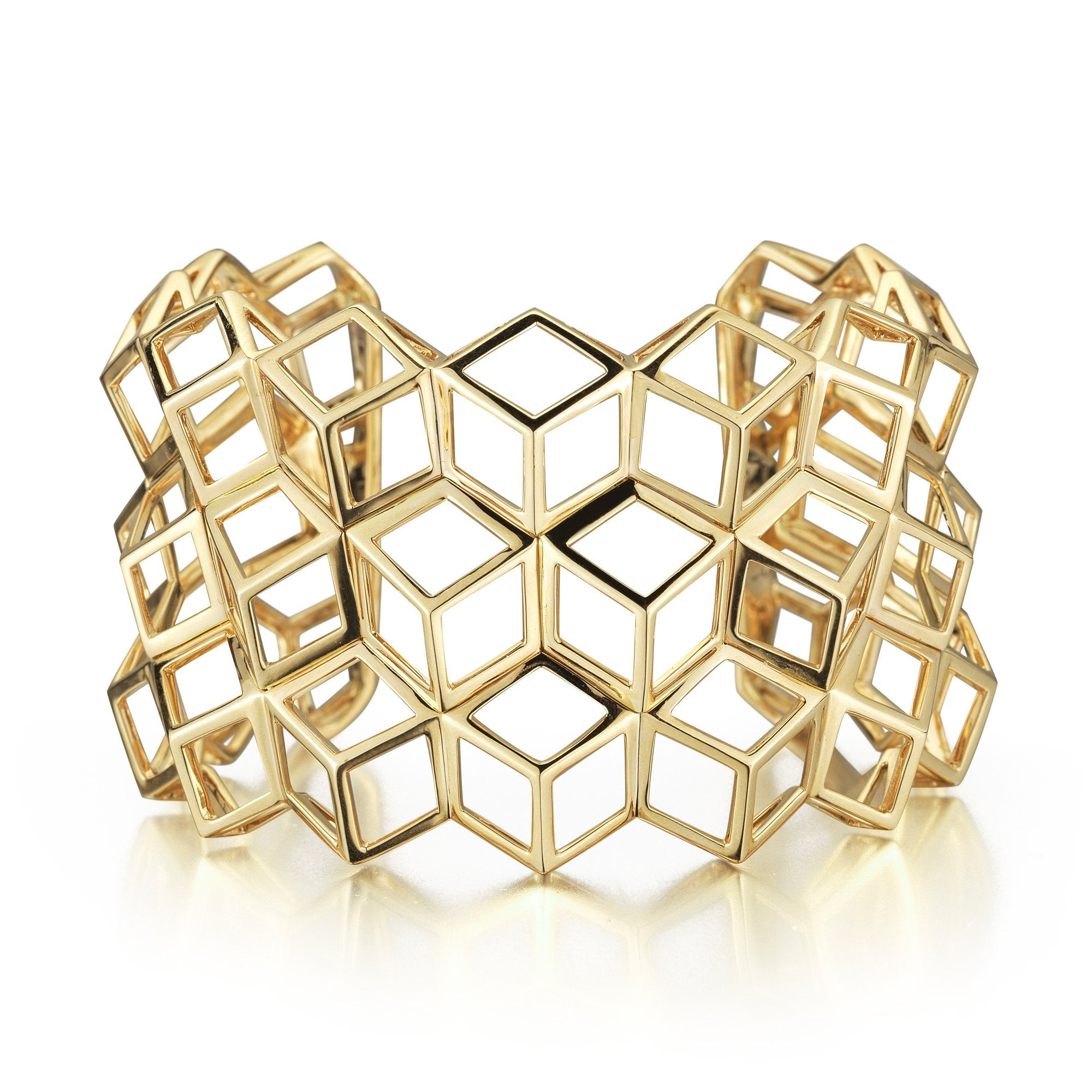 Yellow Gold 'Brillante®' Traforato Cuff - Paolo Costagli - 1