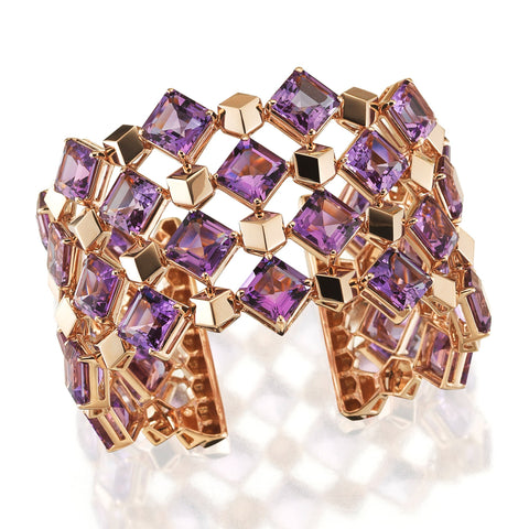 18kt Rose Gold Amethyst Very PC Cuff - Paolo Costagli