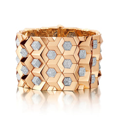 18kt Rose Gold Brillantissimo And Diamond Bracelet - Paolo Costagli