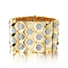 18kt Yellow Gold Brillantissimo And Diamond Bracelet - Paolo Costagli