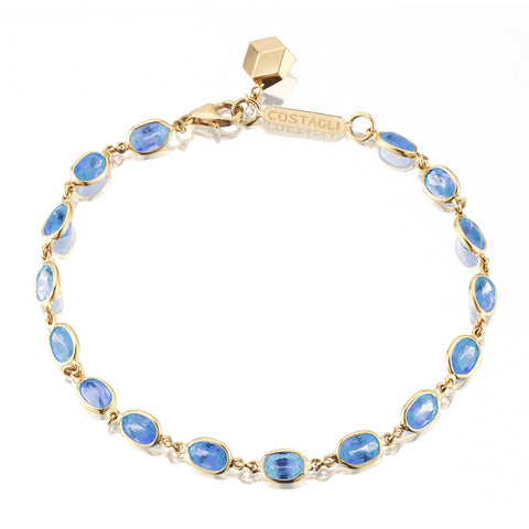 18kt Yellow Gold Blue Sapphire Ombre Bracelet - Paolo Costagli