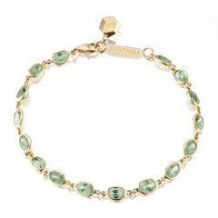18kt Yellow Gold Green Sapphire Ombre Bracelet - Paolo Costagli