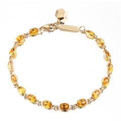 18kt Yellow Gold Orange Sapphire Ombre Bracelet - Paolo Costagli