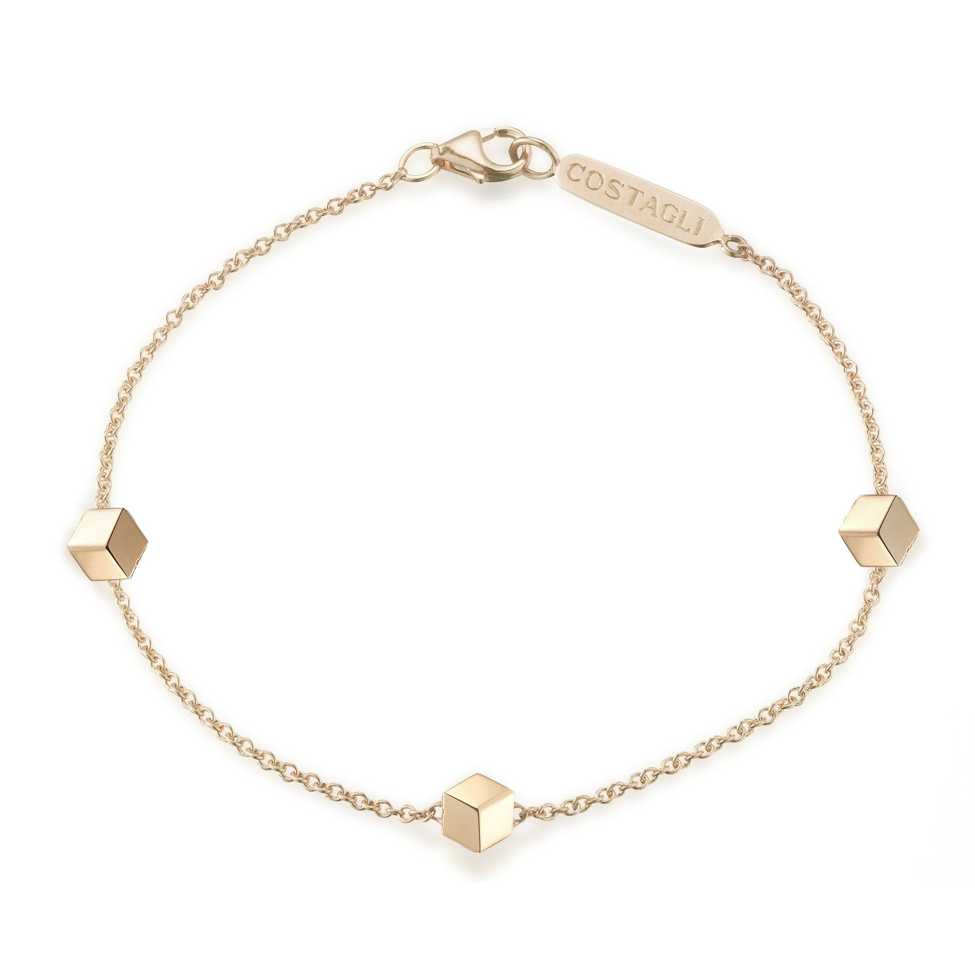 Yellow Gold 'Brillante®' Natalie Station Bracelet - Paolo Costagli