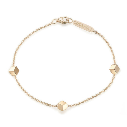 18kt Yellow Gold Station Bracelet - Paolo Costagli