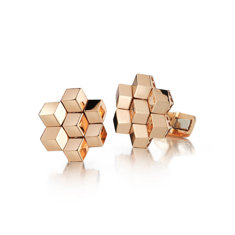 18kt Rose Gold Signature Brillante® Cufflink Set - Paolo Costagli