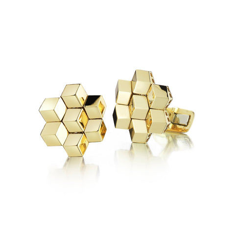 18kt Yellow Gold Signature Brillante® Cufflink Set - Paolo Costagli