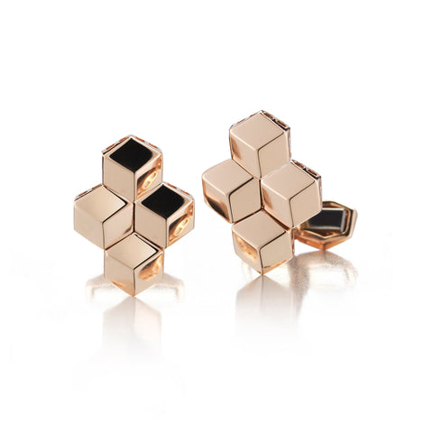 18kt Rose Gold Brillante® Cufflink Set, Medium - Paolo Costagli