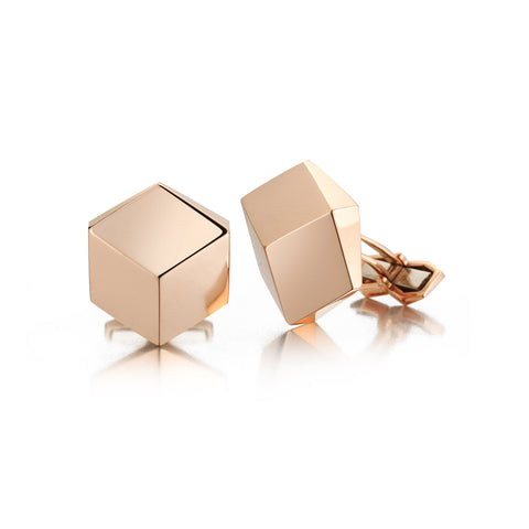 18kt Rose Gold Brillante® Solitaire Cufflink Set - Paolo Costagli
