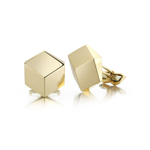 18kt Yellow Gold Brillante® Cufflink Set, Grande - Paolo Costagli
