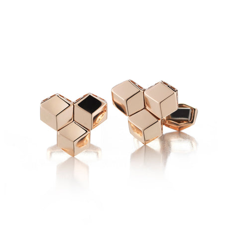 18kt Rose Gold Brillante® Trillion Cufflink Set - Paolo Costagli