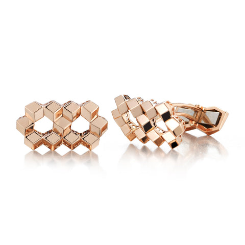 18kt Rose Gold Brillante® Cufflink Set, Petite - Paolo Costagli
