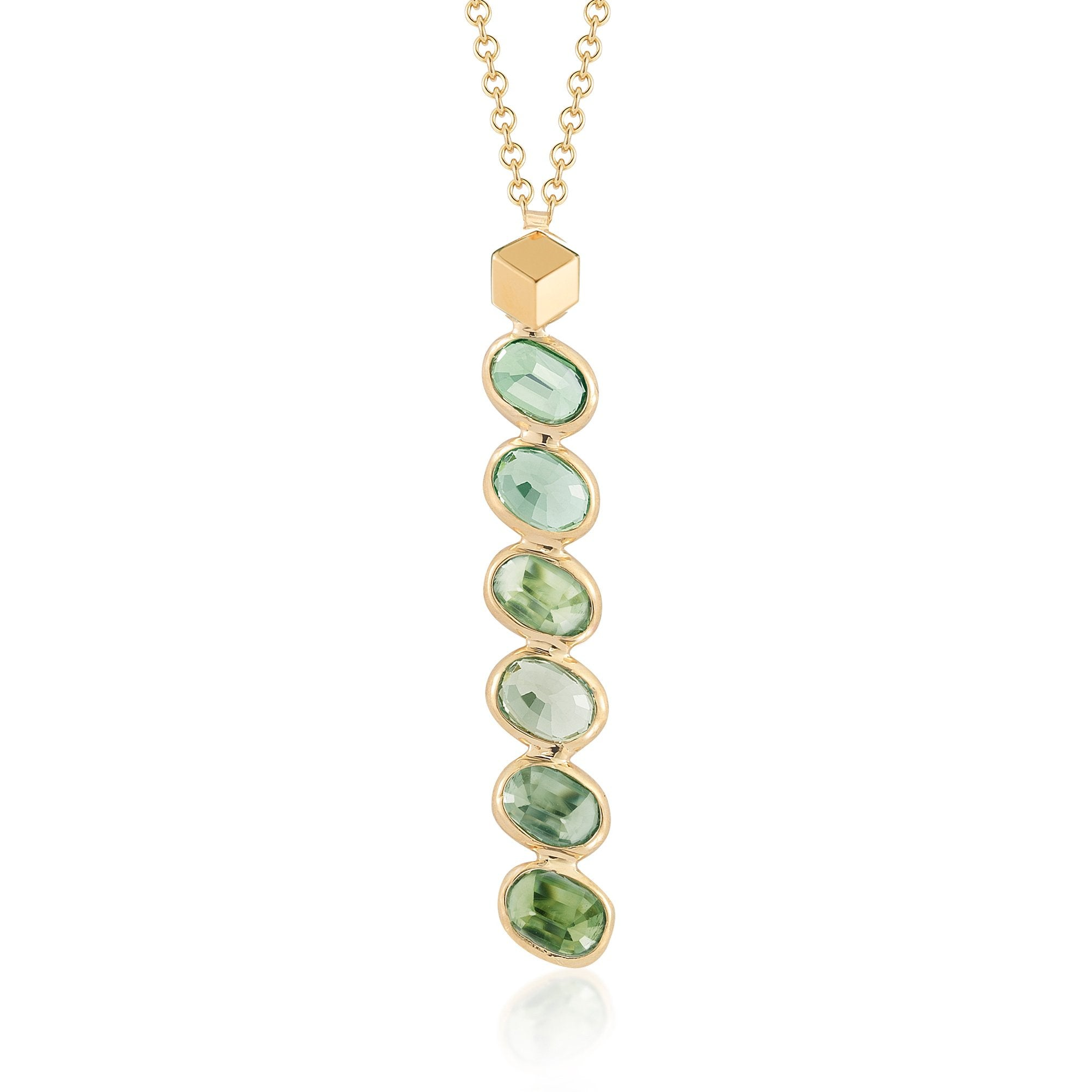 Green sapphire ombre pendant necklace paolo costagli green sapphire ombre pendant necklace paolo costagli 1 aloadofball Image collections