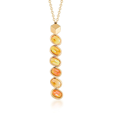 Orange Sapphire Ombre Pendant Necklace - Paolo Costagli