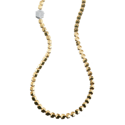 Yellow Gold Brillante® Necklace, Grande - Paolo Costagli