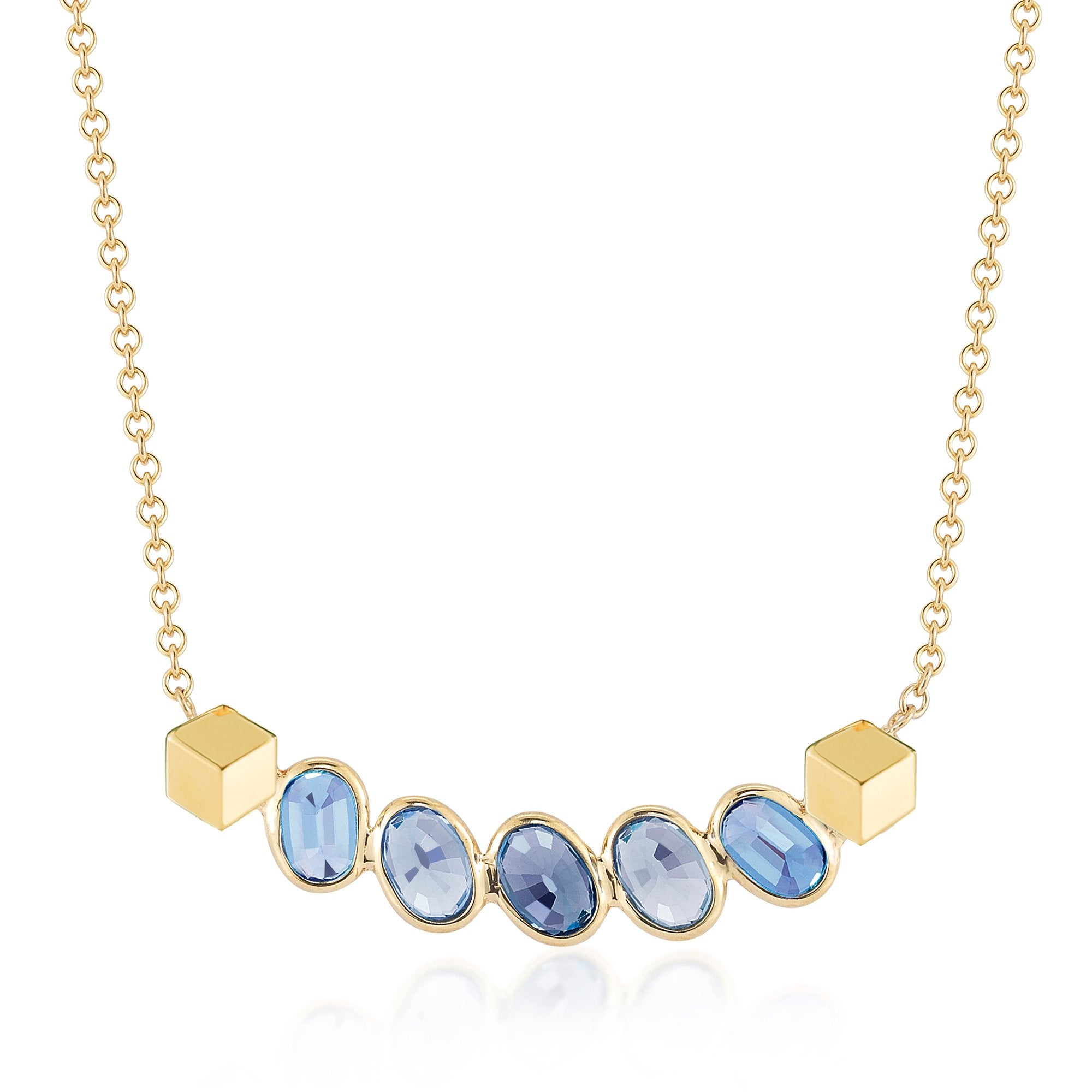 jewelers product s pear sapphire necklace pendant anastella friedman