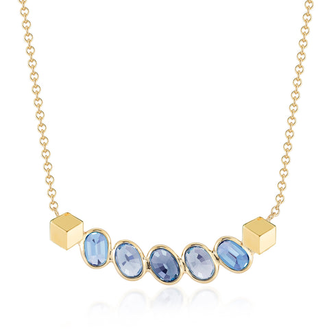 18kt Yellow Gold Blue Sapphire Pendant Necklace - Paolo Costagli
