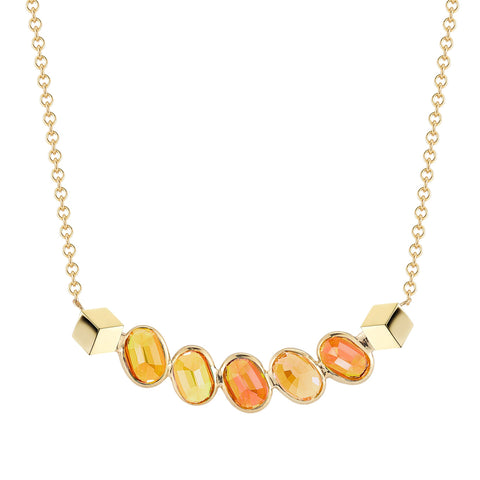 Orange Sapphire Ombre Sorriso Necklace - Paolo Costagli