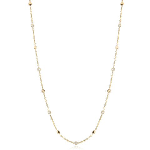 18kt Yellow Gold Brillante® Diamond 'By the Yard' Necklace - Paolo Costagli