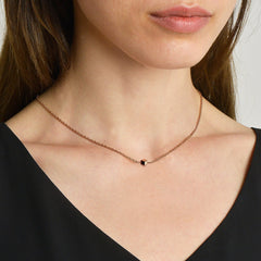 rose gold necklace designs for women