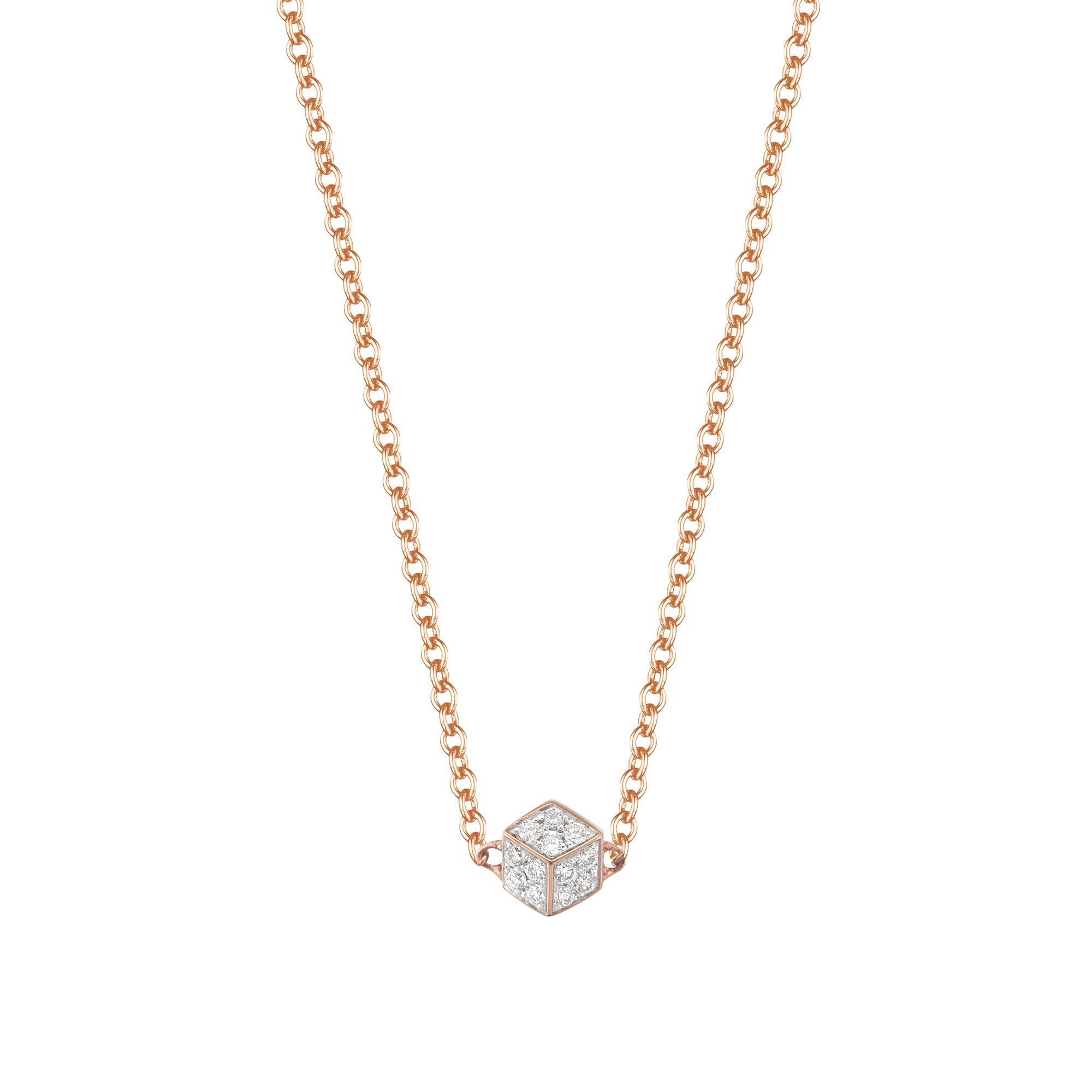 Buy 18kt Rose Gold Iconic Designer Diamond Pendant Necklaces for ...
