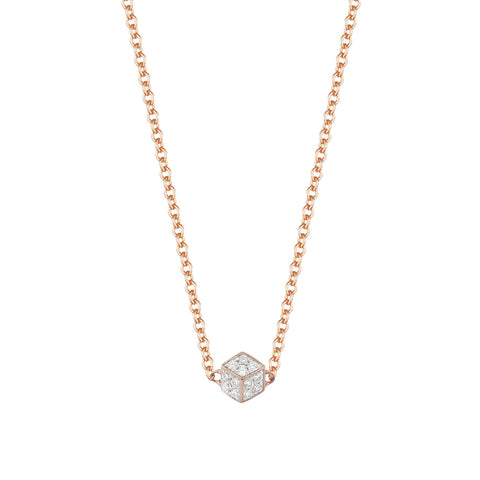 18kt Rose Gold Unique Natalie Diamond Pendant Necklace - Paolo Costagli