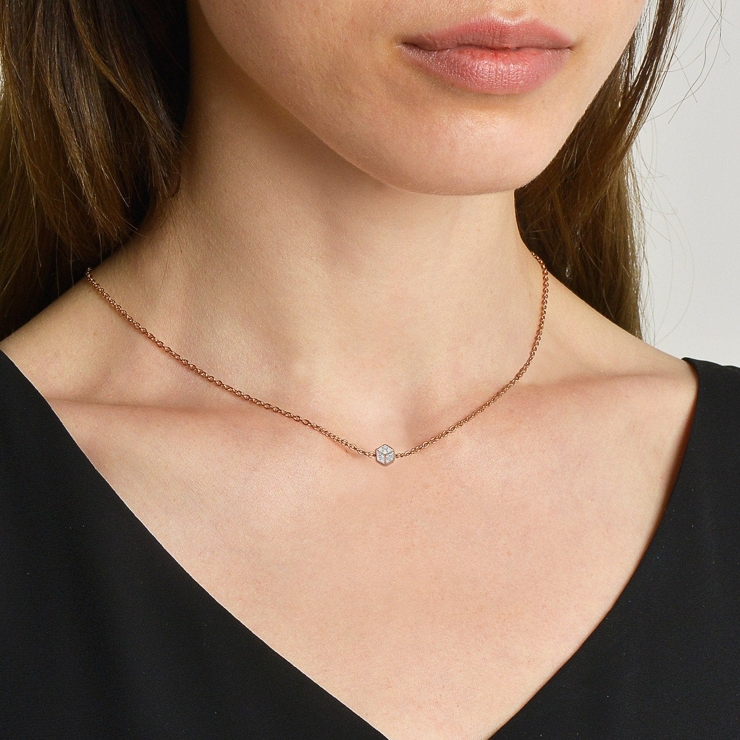18kt rose gold premier designs necklace
