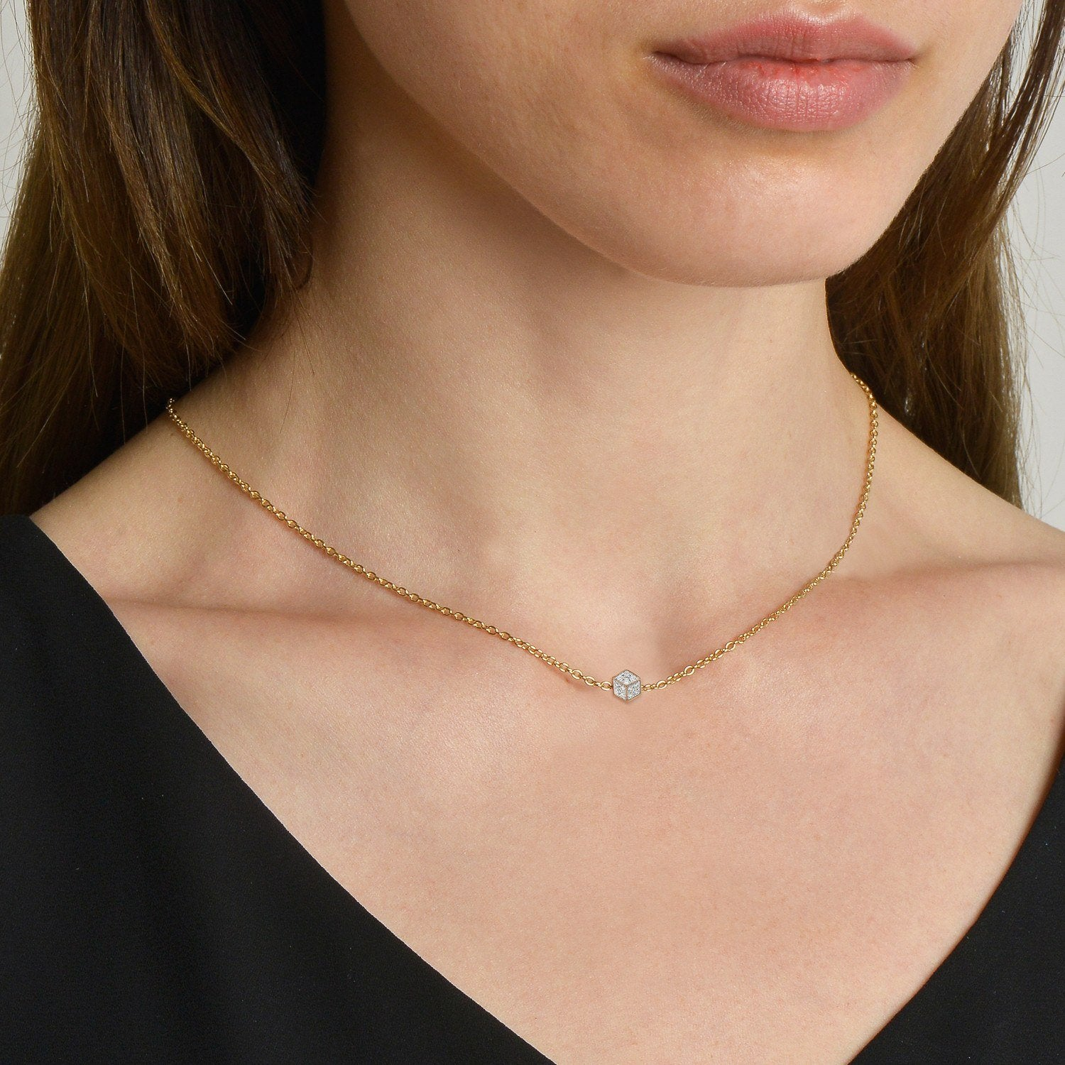 Yellow Gold and Diamond 'Brillante®' Natalie Necklace - Paolo Costagli - 2