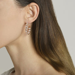 18kt White Sapphire Ombre Hoop Earrings - Paolo Costagli