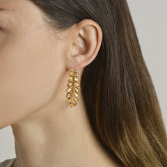 18kt Orange Sapphire Ombre Hoop Earrings, Grande - Paolo Costagli