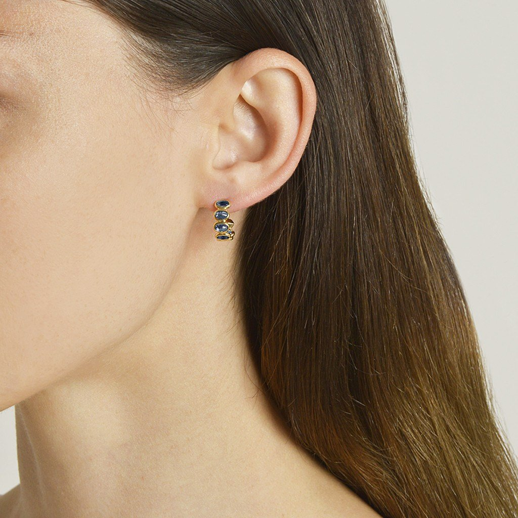 yellow gold hoop earrings - Paolo Costagli