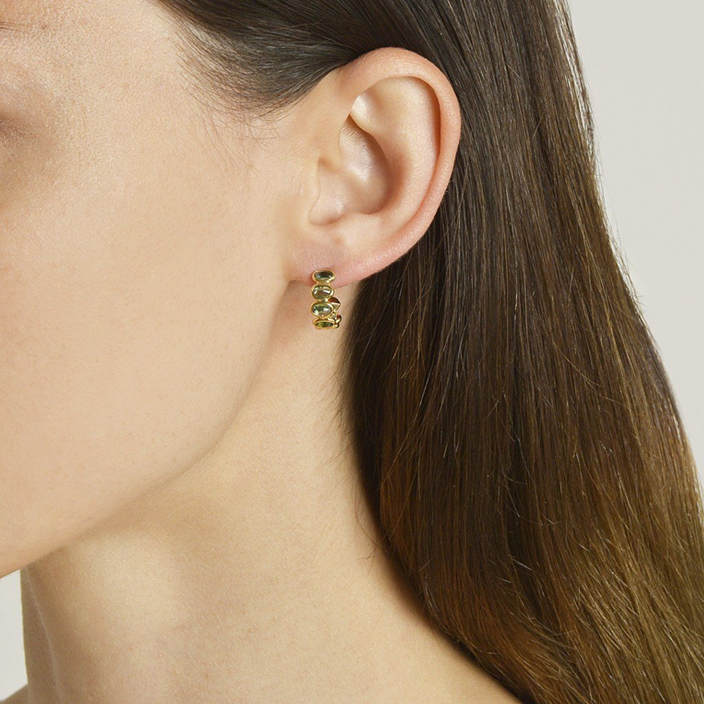 Green Sapphire 'Ombre' Hoop Earrings, Petite - Paolo Costagli - 2