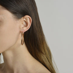 Rose Gold Brillante® Hoop Earrings, Grande - Paolo Costagli