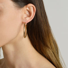 Yellow Gold Brillante® Hoop Earrings, Grande - Paolo Costagli