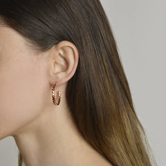 Rose Gold Brillante® Hoop Earrings 18kt - Paolo Costagli