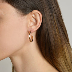 Yellow Gold Brillante® Hoop Earrings, Medium - Paolo Costagli
