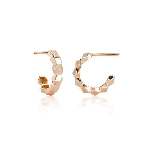 Rose Gold Brillante® Hoop Earrings, Petite - Paolo Costagli