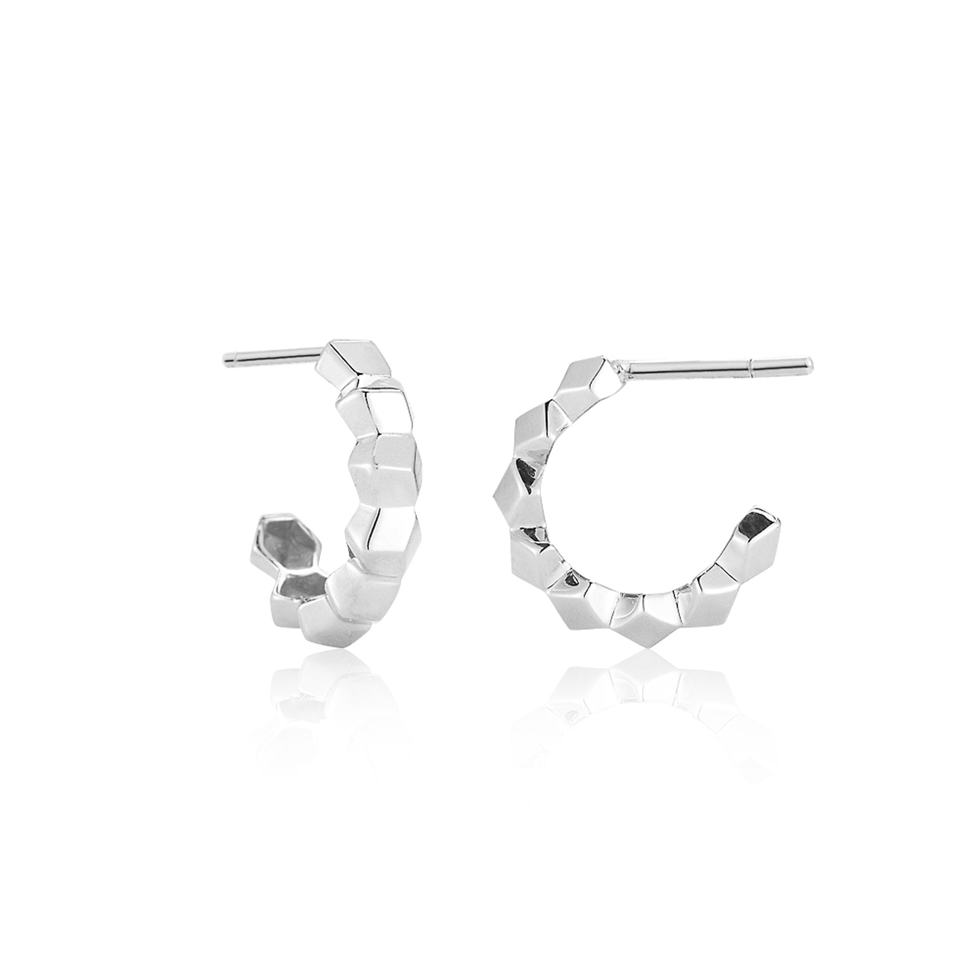 White Gold Brillante® Hoop Earrings, Petite - Paolo Costagli