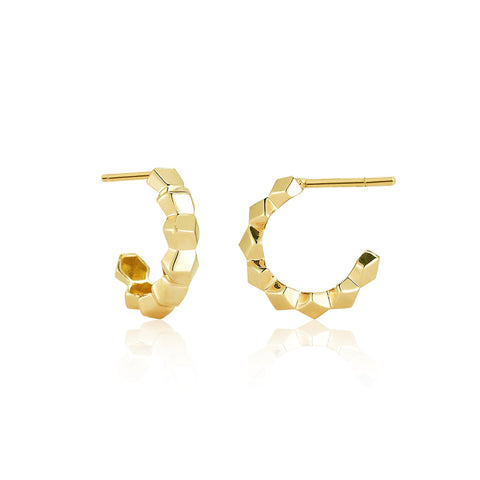Yellow Gold 'Brillante®' Hoop Earrings, Petite - Paolo Costagli - 1