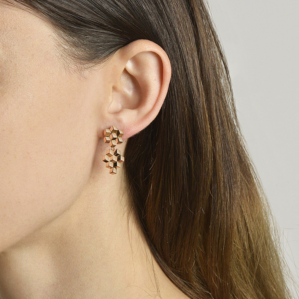 Rose Gold 'Brillante®' Earrings, Petite - Paolo Costagli - 2