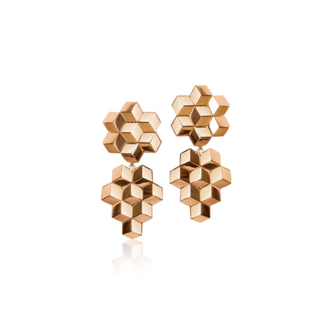 Rose Gold Brillante® Earrings, Petite - Paolo Costagli
