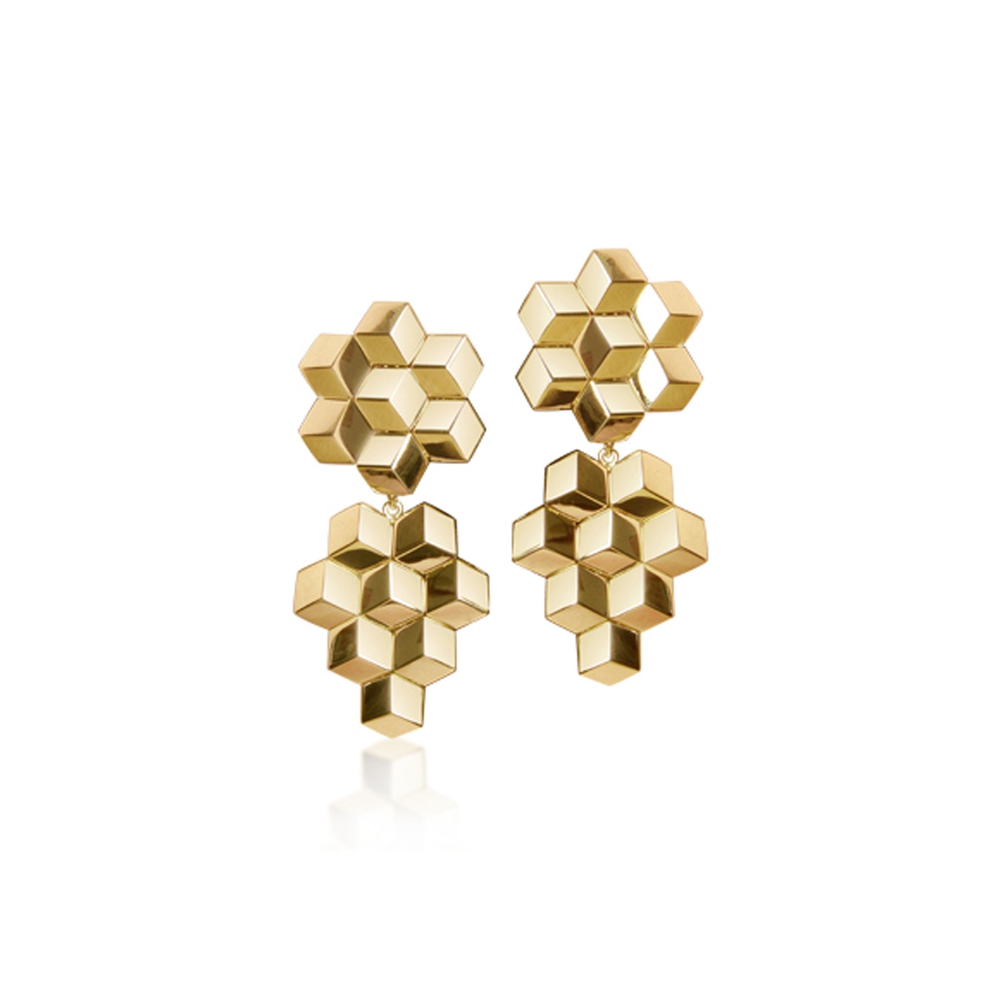 Yellow Gold 'Brillante®' Earrings, Petite - Paolo Costagli - 1