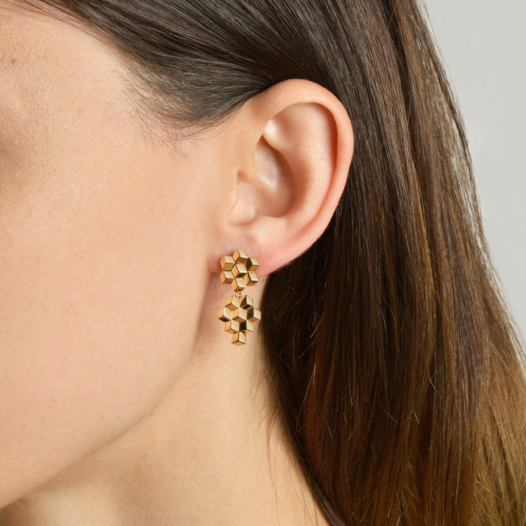 Yellow Gold 'Brillante®' Earrings, Petite - Paolo Costagli - 2
