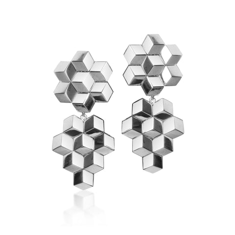 18kt White Gold Brillante® Earrings, Medium - Paolo Costagli