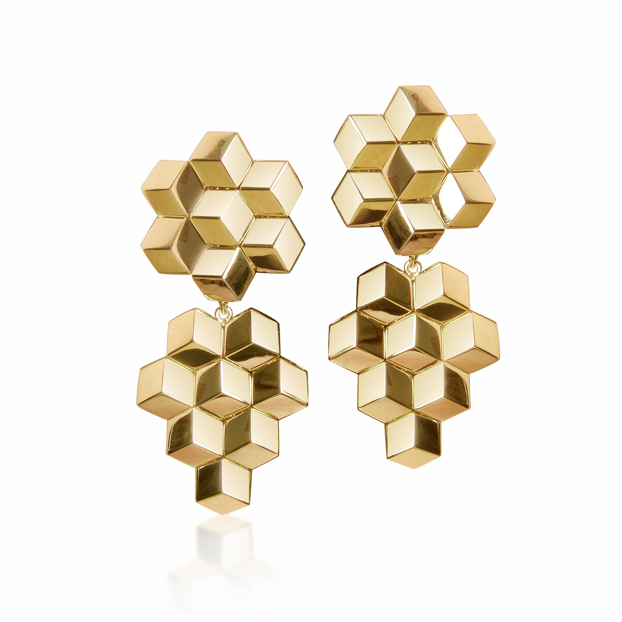 18kt Yellow Gold Brillante® Earrings, Medium - Paolo Costagli